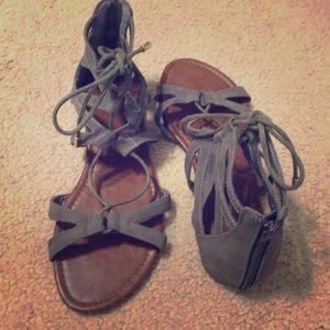Gray Gladiator sandals